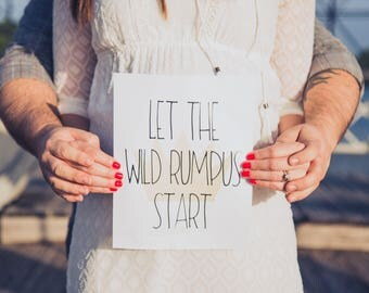 "Let The Wild Rumpus Start 8""x10"" Birthday Party Printable Sign 