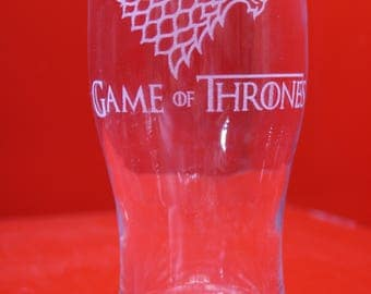 Stark Dire Wolf Sigil Pint Glass Game Of Thrones Laser Engraved Stark Winterfell