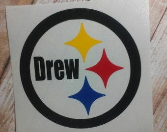 Steelers Decal/Pittsburgh Decal/ Football Decals/ Steelers Sticker/Pittsburgh Steelers Sticker/ Youth Football/Pittsburgh Steelers/Custom