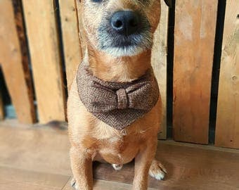 Tweed Dog Collar, Tweed Bow Tie, Dog bandana, Dog Outfit, Pet Accessories, Dog Costume, Dog Bandana Collar, Dog Bowtie Collar, Dog clothes