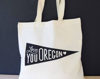 Oregon Tote Bag | Mothers Day Gift | Grocery Bag | Gift for Her | Grocery Tote | Market Tote Bag | Shopping Tote | Portland Oregon