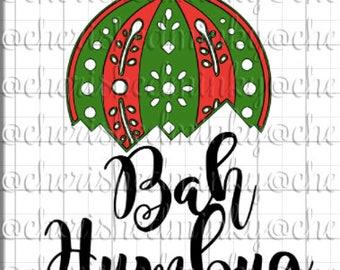 Bah Humbug Ornament SVG File