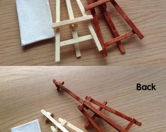 miniature furniture. 112 miniature adjustable easel with canvas foldable furniture