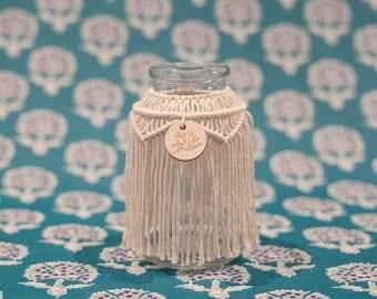 Macrame Vase, Macrame Jar, Macrame Candleholder, Macrame Hurricane, Candleholder, Vase, Macrame