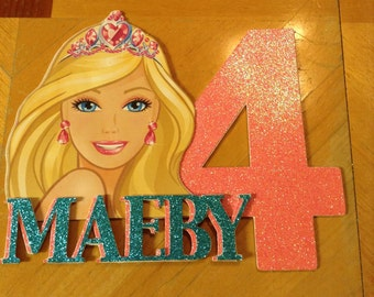 Barbie Personalized Cake Topper