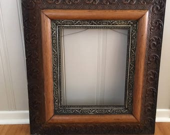 """Antique Five Level Large Victorian 19th Century Hand crafted Wood/Gesso/Gilded frame/8"""" width"""