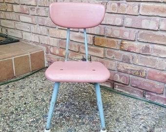 Vintage Child's School Chair~American Plastic & Steel School Chair~Toddler Chair~Kid's Chair~Desk Chair~mid Century School Chair