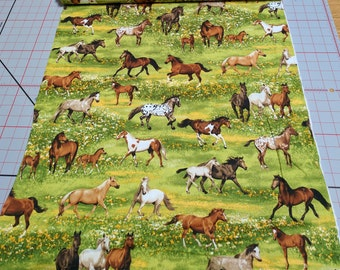 Band of Horses Cotton Fabric from Robert Kaufman