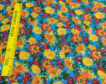 Changing Seasons-Flowers Cotton Fabric Designed by Ro Gregg for Paintbrush Studios