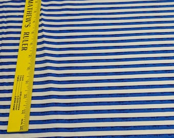 One Nation-Blue Stripe Cotton Fabric from P&B Textiles