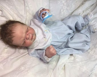 "Sleeping Full Bodied Reborn Baby Boy ""Maddux"" by Believable Babies for People with Dementia and Alzheimer's- Doll Therapy for Memory Care"