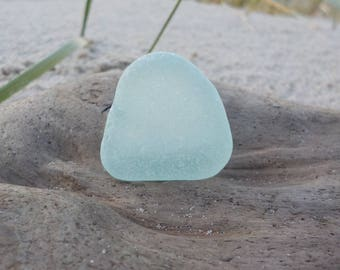 "Genuine aqua blue Perfectly smoothed flawless Sea Glass-Size 1.1"" -Rare Sea Glass-Pendant size sea Glass#J110#"