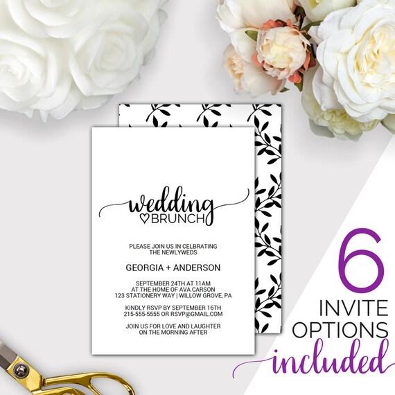 post wedding brunch invitation template rustic printable morning