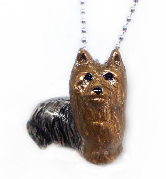 Yorkshire terrier necklace yorkie necklace yorkie pendant te gusta este artculo aloadofball Choice Image