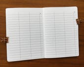 B6 Traveler's Notebook, Printed Multi Purpose Blank Table Notes #b616