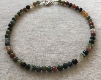 Indian Agate Anklet -10.5in