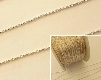 5M Silver Plated 0.8mm Beading Chain Jewellery Making