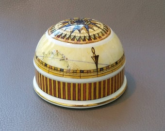 A China Paperweight made by Wedgwood as part of their Atlas pattern series