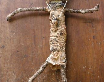 Primitive creepy voodoo doll guardian wards off evil spirits FREE SHIPPING!!!