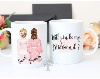 Mug For Bridesmaid, Bridesmaid Gift, Bridesmaid Mug, Will You Be My Bridesmaid, Maid of Honor Mug, Maid of Honor Gift, Maid of Honor
