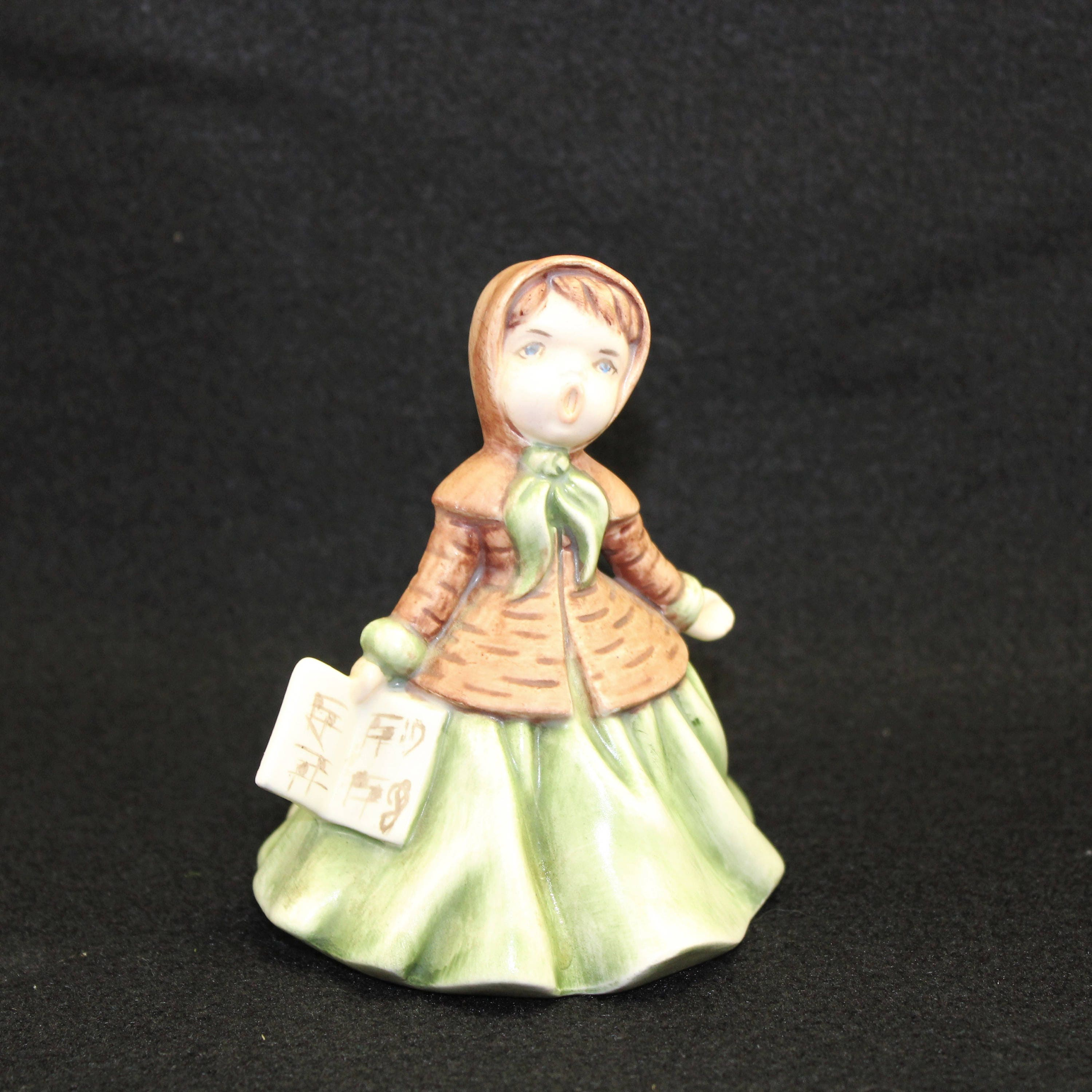 Ceramic Christmas Caroler Figurines Parma By Thepokeypoodle: Holland Mold Signed Singer Caroler Vintage Circa 1960's