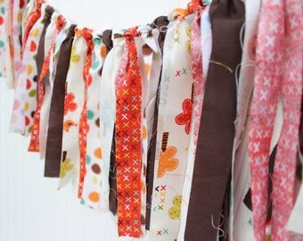 Traditional fall garland, Traditional fall colored garland, Fall garland, Fall banner, Traditional fall banner, Brown and orange banner