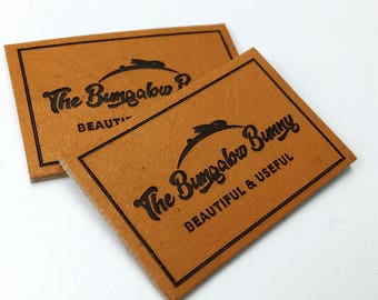 custom leather label logo, leather logo patch, custom leather patch logo