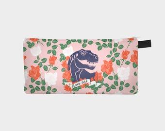 Dinosaurio lápiz caso, Portatodo niña inteligente, chicas lápiz caja, bolso del lápiz de color de rosa, Floral lápiz, lápiz fresco caso, escolares