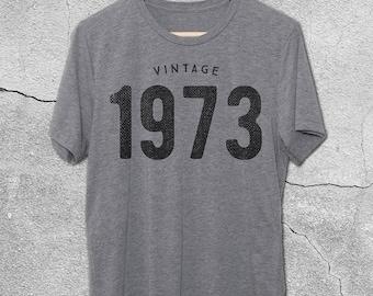 45th Birthday for Him & Her - Vintage 1973 T-Shirt - 45th Birthday Shirt - Gift Ideas - tshirt -45th birthday gifts for women men