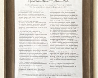 The Family: A Proclamation to The World - Art Print - The Proclamation - LDS Art