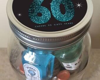 Sensational 60th Birthday Minibar in a Jar - Milestone Birthday
