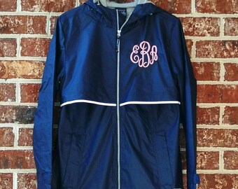 Charles River Apparel 5099 Ladies New Englander Rain Jacket Free Monogram