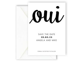 Printable Save The Date Card, Wedding Invitation, Wedding Announcement, Simple Invite, Modern & Minimal Save The Date Card [07]