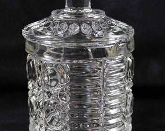 Vintage Windsor Clear Glass Sugar Bowl with Lid, Glass Sugar Bowl
