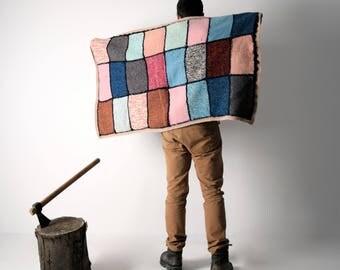 Blanket, Wool Blanket, Handmade afghan, Knit blanket, Vintage Blanket, Throws blanket, For Baby, Colorful blanket, home decor, Bedding, Wool