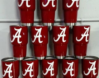 30oz Ozark or Yeti Cup With Alabama vinyl