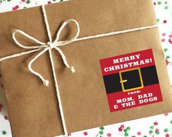 Custom Christmas Gift Label, Santa Gift Wrap, Gifts from Santa, Christmas Gift Stickers, Kids Gift Wrap, Christmas Gift Wrapping, Stickers