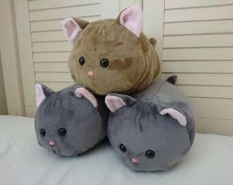 Cat Roll Plushie Kawaii Neko Kitty Stuffed Animal Plush