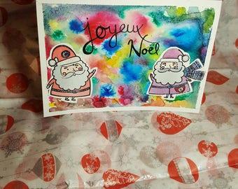 Santa Claus watercolor card