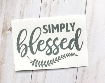 Decal | Simply Blessed | Free Shipping