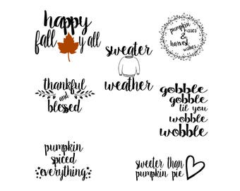 Fall Svg-Fall Svg Bundle-Fall Svg Files-Thanksgiving Svg-Pumpkin Svg-Autumn Svg-Silhouette-Cricut-Instant Download-Digital Download-Cut File