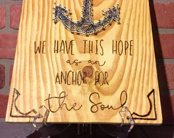 We Have This Hope As An Anchor For The Soul string art