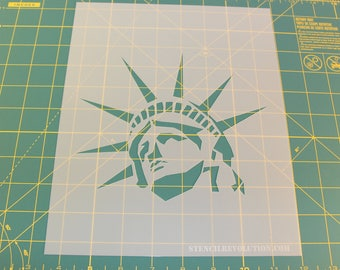 Statue of Liberty Stencil - Reusable DIY Craft Stencils of the Statue of Liberty