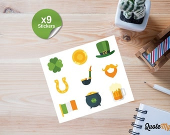 9 St Patrick's Day Journal/Planner Stickers