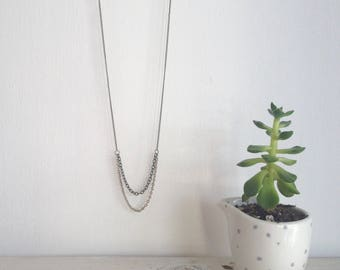 MULTICHAIN NECKLACE // fine // minimal // eco jewellery
