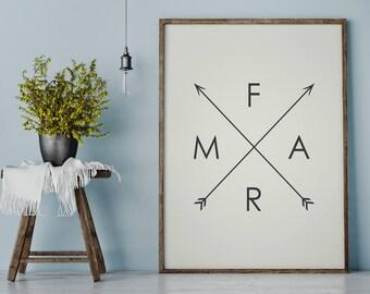 Farm Arrows Print | Farmhouse Decor | Fixer Upper Art | Arrow Poster | Printable Art