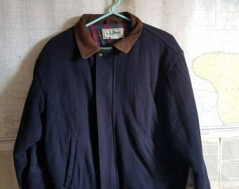 Vintage L.L.Bean Navy Wool Jacket