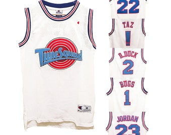 Space Jam Basketball Jersey Looney Tune Squad Jordan Bugs Taz Retro Vintage 90s!