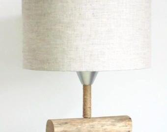 lamp shade linen - cylinder 30 cm - cylindrical - round - handmade - handmade