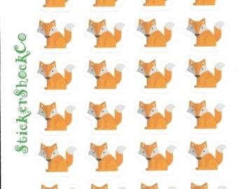 Fox Stickers, Fox Planner Stickers, Fox Sticker Sheet, Animal Stickers